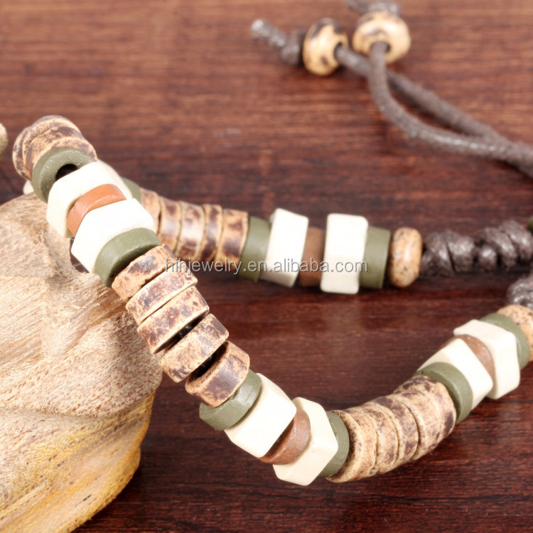 fine necklaces jewelry clay hand bead woven size adjustable wooden bracelet body jewelry