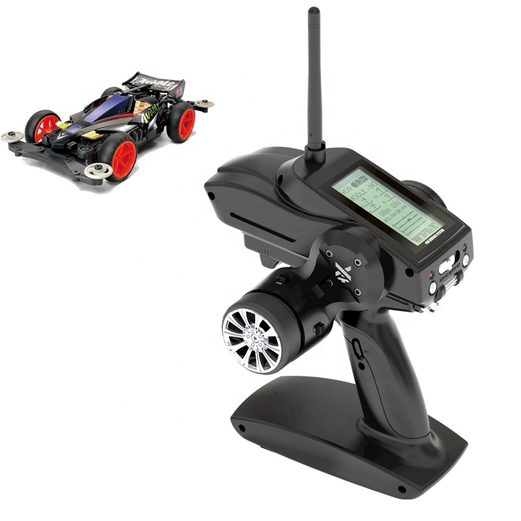 Wfly RC 2.4G Controller 4CH Radio Sistem Kontrol Transmitter Receiver RC Mobil