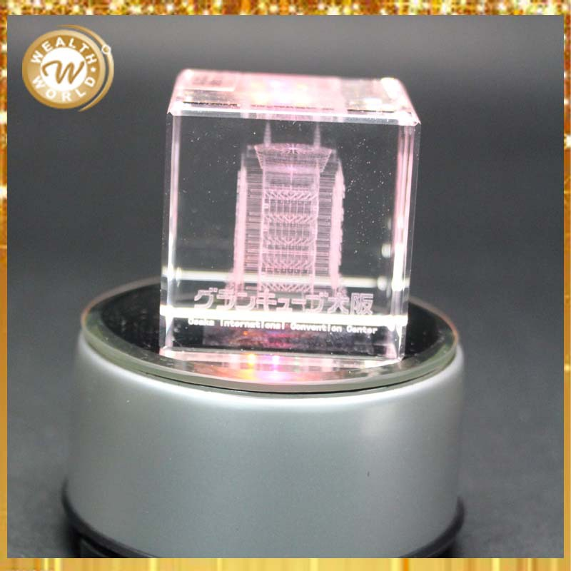 square 3d inner laser crystal cube