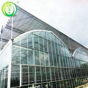 Commercial modern glass greenhouse hydroponic cooling system
