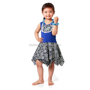 2017 wholesale boutique clothing flower dress for kids girl's comfortable dress