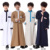 simple style men white muslim abaya for kids