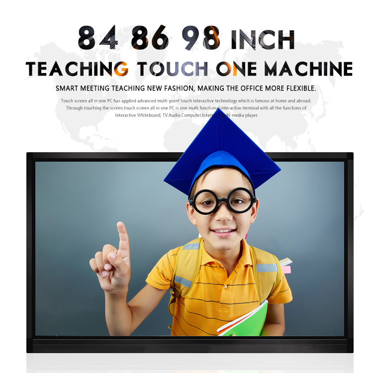 meeting roon school teaching big size 98 inch all in one interactive whiteboard