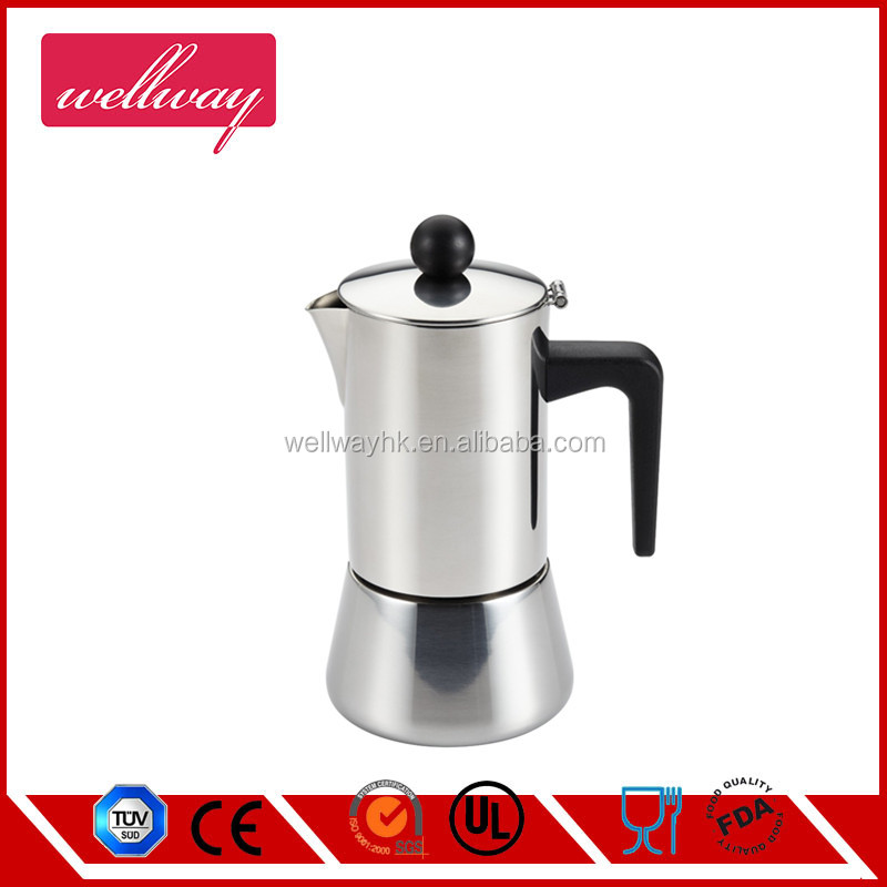 Stovetop Espresso Maker Pot with Protection Handle