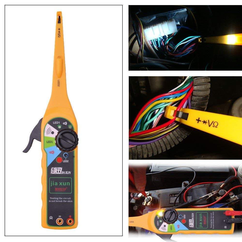 Multi-function Professional Vehicle Diagnostic Tool Circuit Testers AUTOPDRMultimeter Lamp Car Repair Automotive Electrical Circuit Testers Multimeter 0V-380V Voltage (Yellow)