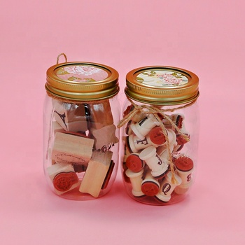 Cute wooden stamp set with PVC bottle