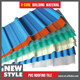Colorful pvc corrugated plastic sheet for outdoor roof covering