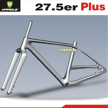 Miracle Bike 650b Plus Carbon Mtb Bicycle Frame Fork Carbon Mountain ...