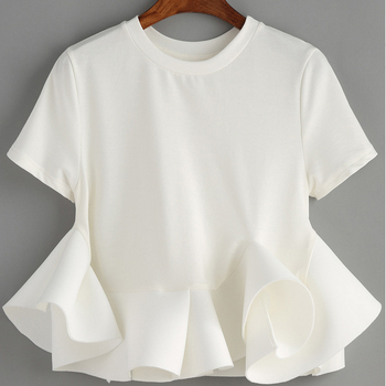 dc0f3857af2b Brand New Fashion Womens Clothes Latest Designs Fancy Cotton Tops Girls White  Tops