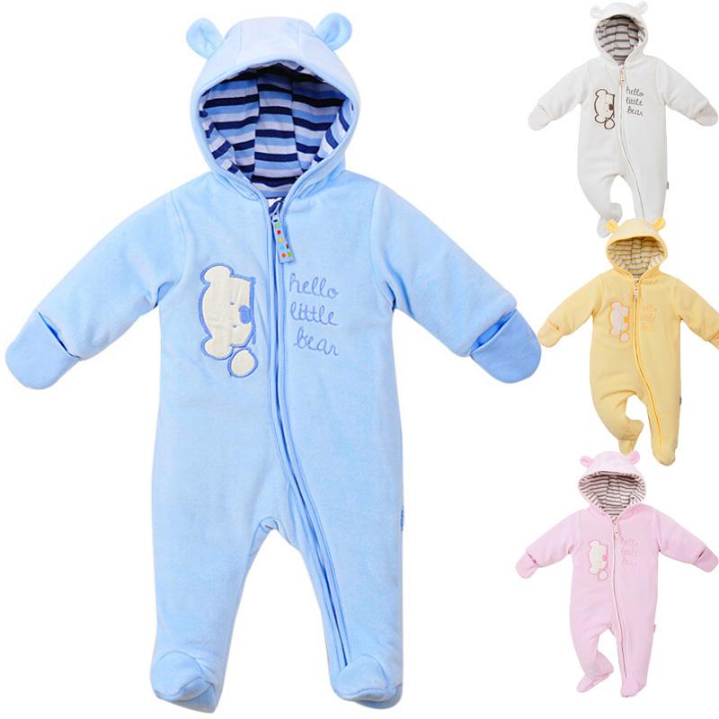 dc660d7ec88f Buy Baby Snowsuits 2015 Winter Baby Footie Pajamas Long Sleeve Warm ...