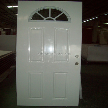 Genial Steel Half Moon Glass Door,glass Metal Door,4 Panel Steel Entry Door With