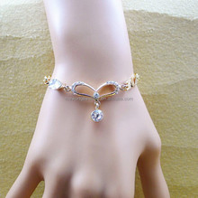 Pendant heart charm silver gold children arm candy bracelet