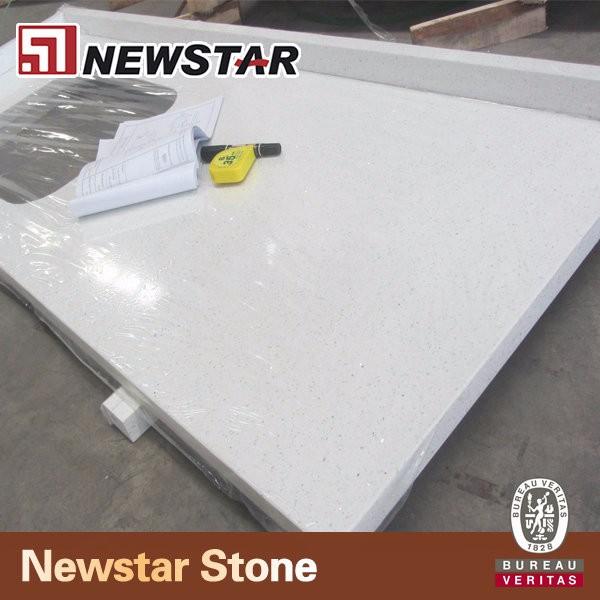 Benyee Brand White Mirror Fleck Synthetic Granite Quartz