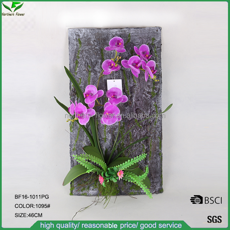 newly arrived wall hanging artificial orchid, artificial phalaenopsis orchids for decoration