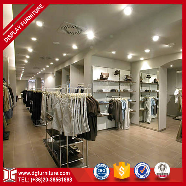 Custom new retail design clothing jeans wear shop interior design