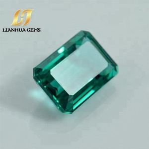 Factory direct high quality new synthetic nano stone tourmaline rectangle dark green loose paraiba gemstone for accessories