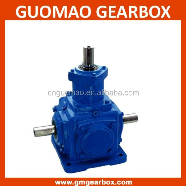 2:1 Ratio 90 Degree Gearbox T Series Spiral Bevel Gearbox