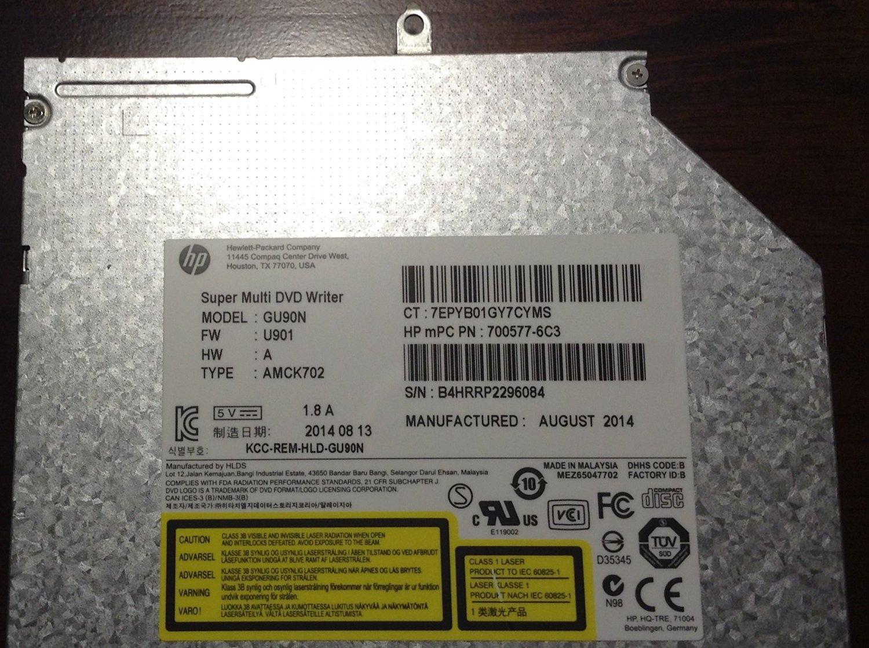 HP 8x SMD Sata NO-Bezel SN-208 DVD-RW 657959-001