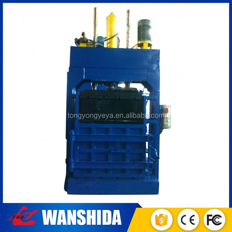 Vertical hydraulic paper carton bailer machine for corrugated box