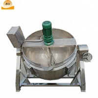 Large electric jam cooking pot jacket kettle with agitator