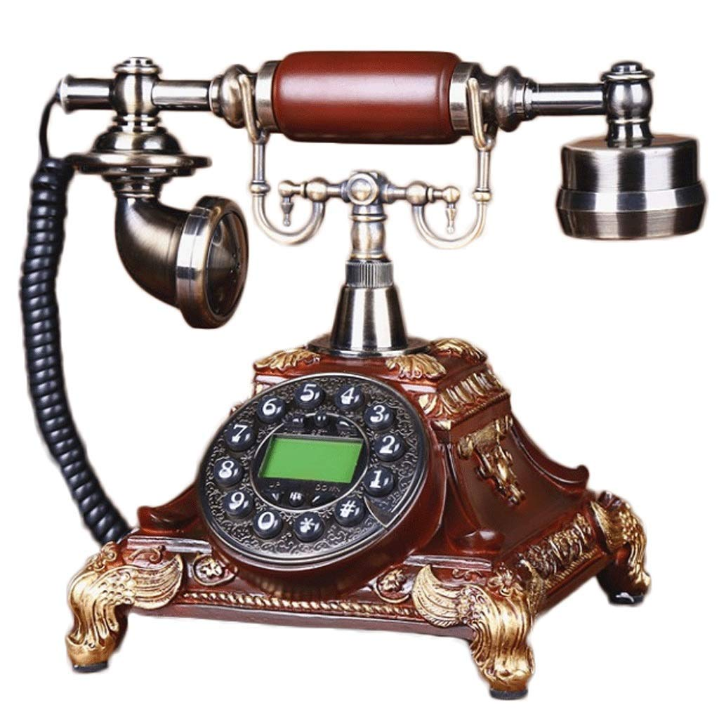 HY Wood-Like Button Handsfree Telephone Caller ID Fixed Telephone Used for Indoor Office Collection (Color : Imitation Wood Button Dialing)