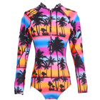 2019 One Piece Swimsuit Long Sleeve Swimwear Women Print Floral Bathing Suit Swimsuit One Piece Swim Surfing Wear