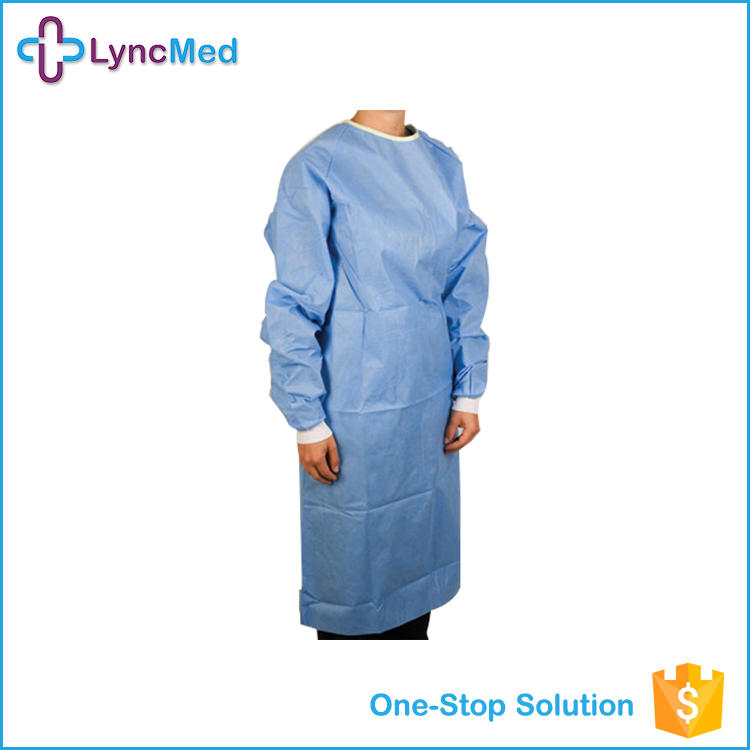 Hospital Medical Isolation Gown Fold Patient Sterile Surgical Gown ...