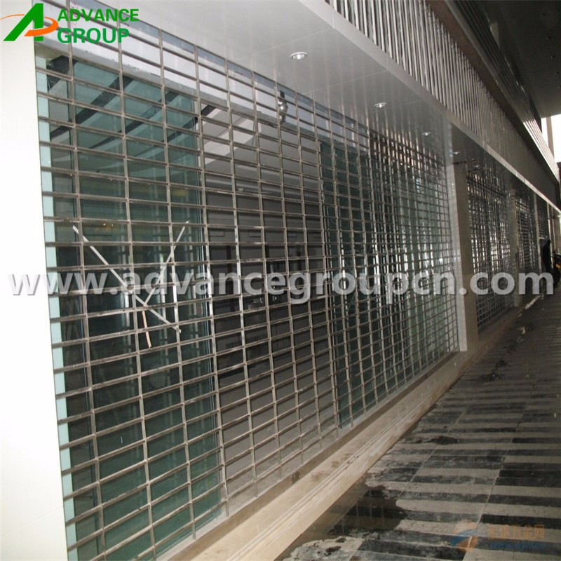 Automatic customized security grill rolling shutter