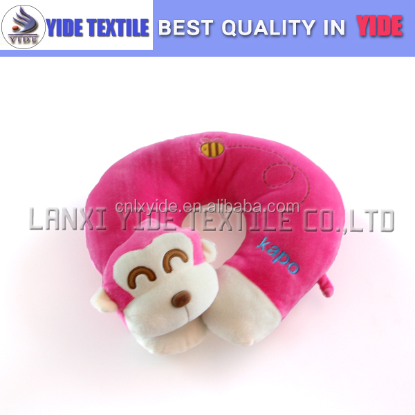 Children Comfort microbead pillow cute Monkey animal neck pillow Best travel neck pillow