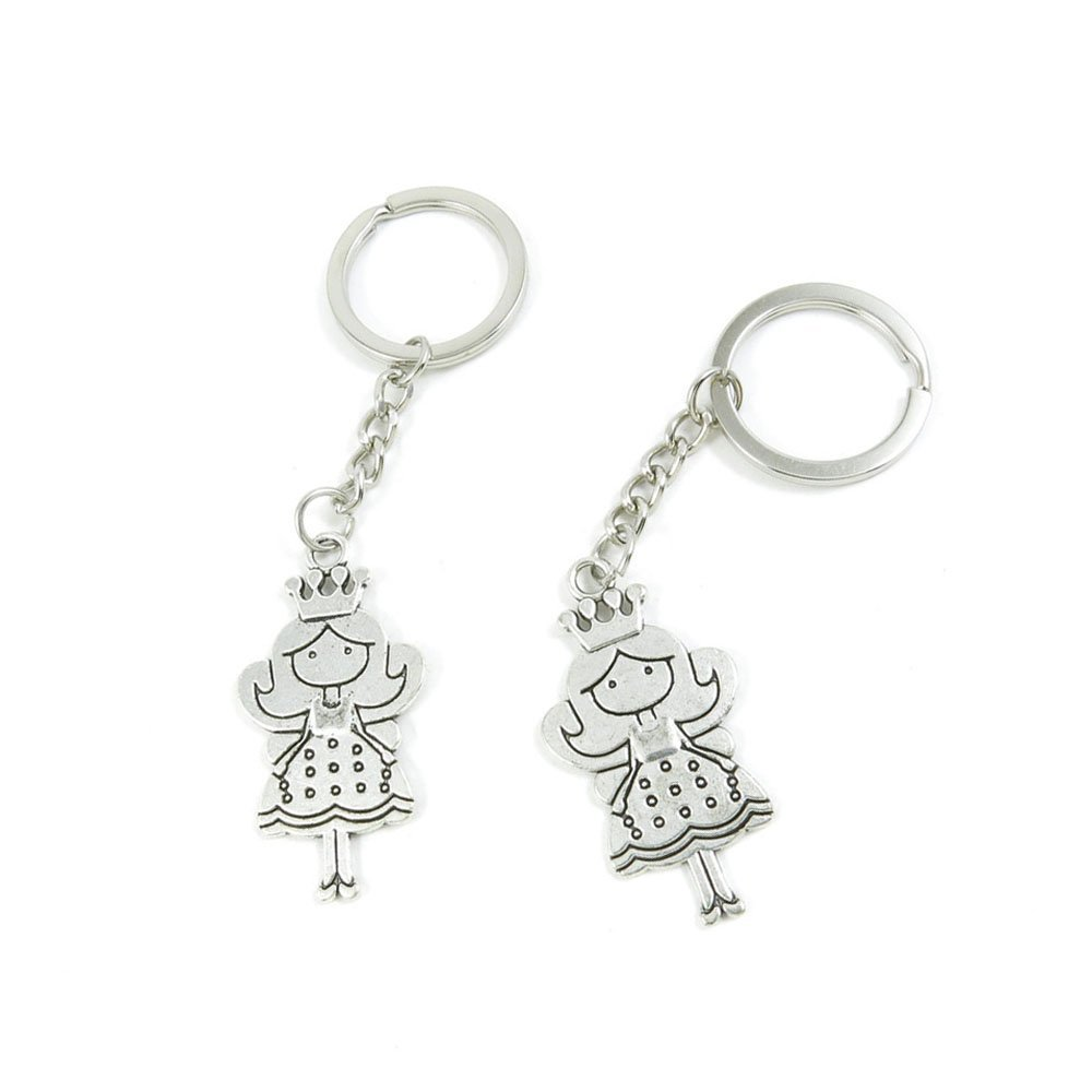 10 Pieces Keychain Door Car Key Chain Tags Keyring Ring Chain Keychain Supplies Antique Silver Tone Wholesale Bulk Lots V4FK7 Sister Love Heart