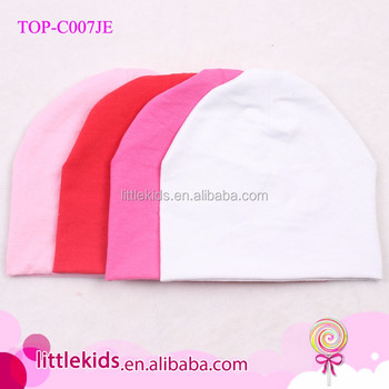 Top Sale Unisex New Born Baby Caps And Hats Blank Soft 100% Cotton Knitted  Lovely a91a72365cb