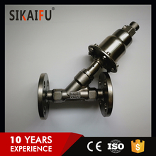 Stainless steel DN25 Welding Angle Seat Valve for Beer and Drink Filling Machinery