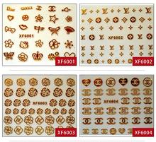 2016 Nails Nail Sticker Manicure 2 Sheet Xfxf 3d Gilded Stickers Affixed Nail Polish Does Not