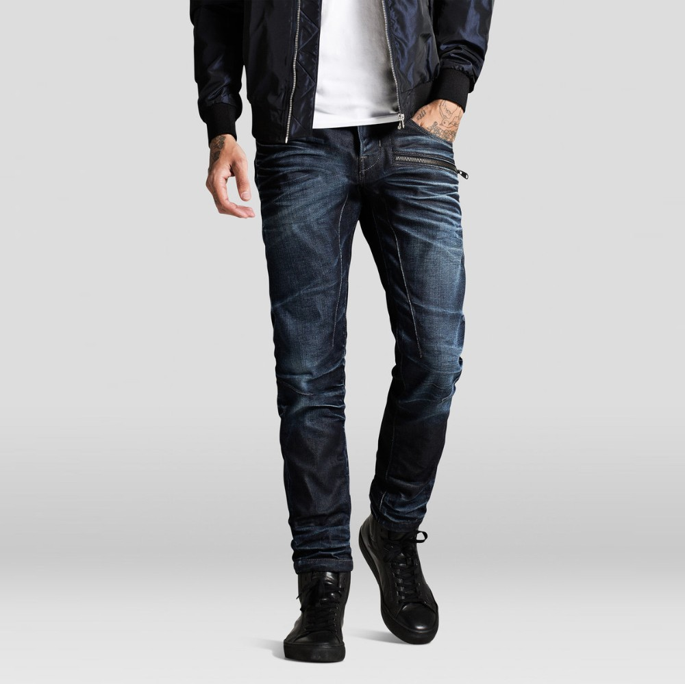 washed dark blue denim wholesale skinny jeans men for sale