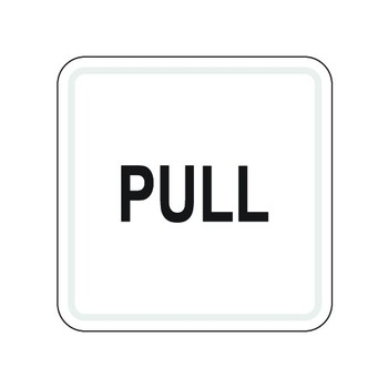 Pull Sign (100*100mm)