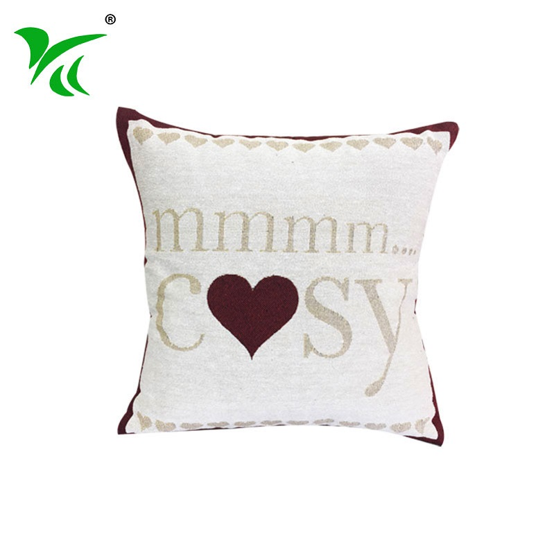 European Woven Spring flower sofa pillow cushion cover chair cushion
