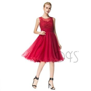 2018 Fabuloso De La Rodilla Longitud Apliques De Encaje Rojo Graduación Vestido De Fiesta Para Niñas Buy Vestidos De Fiesta De Graduaciónvestidos