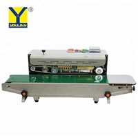 Automatic plastic film bag continuous heat sealing machine