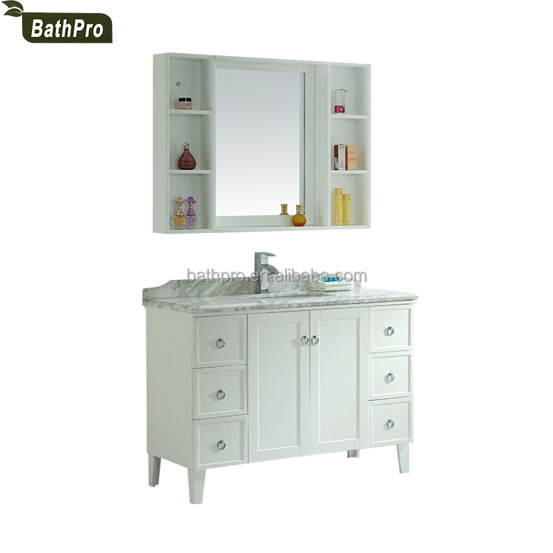 Cheap price American classic style solid wood 48 inch bathroom cabinets