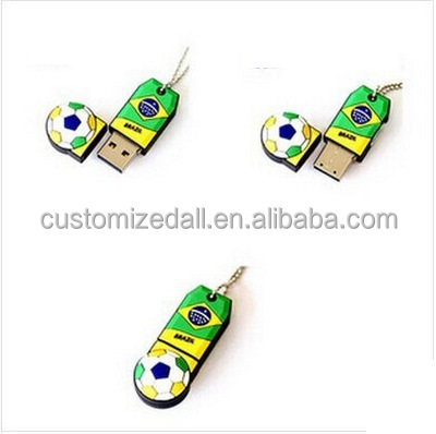 2018 World Cup Gifts Silicone Cartoon Usb Soccer Ball Pen Drive Football Usb 2.0 Stick 8gb Cartoon Usb Flash Drive U Disk