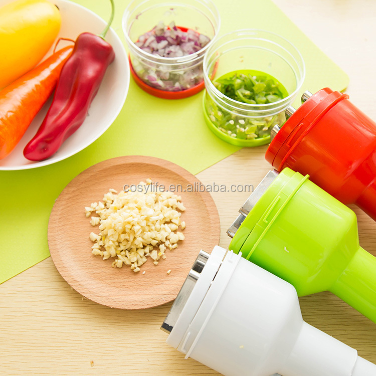 Cosylife Kitchen Cooking Tools Stainless Steel Hand Pressing Chopper Multifunction Ginger Garlic Shredder Cut Onion Vegetable T