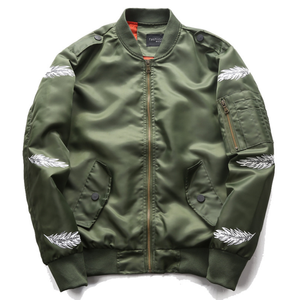 ea4a067fd ZY1921A Feather print lover man's army jacket