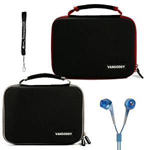 Dual Ultimate Travel Package Deal: Black Gray Case + Black Red Case (x2) Easy Travel with Maximum Protection Hard Nylon Cube Carrying Case for Coby TFDVD7752 7-Inch Portable DVD Player Dual Screen + Includes a eBigValue Determination Hand Strap Key Chain + Includes a Crystal Clear HD Noise Filter