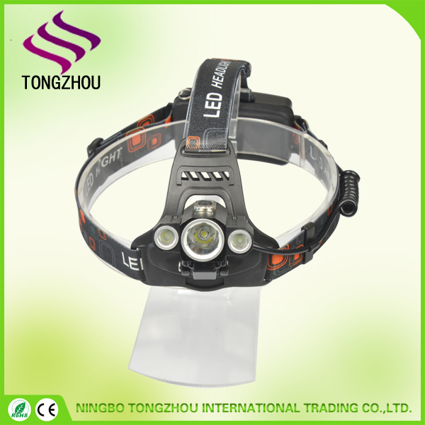Rechargeable LED Headlamp / Bike Lights Set T6 Waterproof 4 Modes Headlight Flashlight Torch for Outdoor