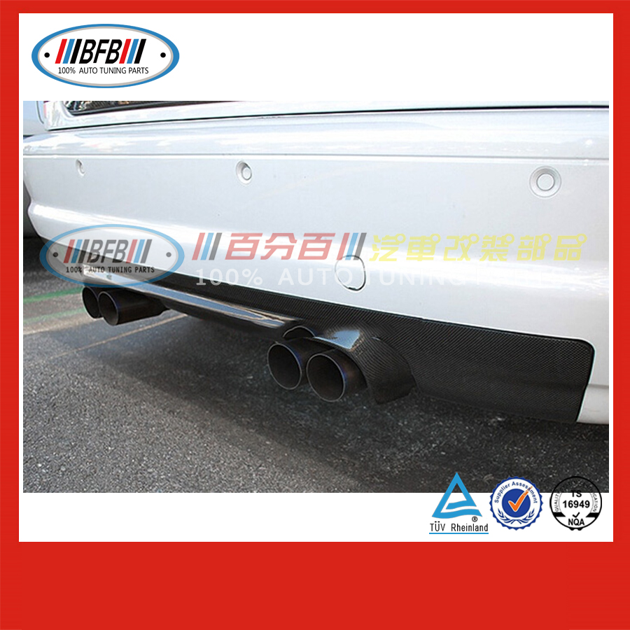 auto half carbon rear bumper diffuser FOR BMW E46 M3 1998-2004 car body parts