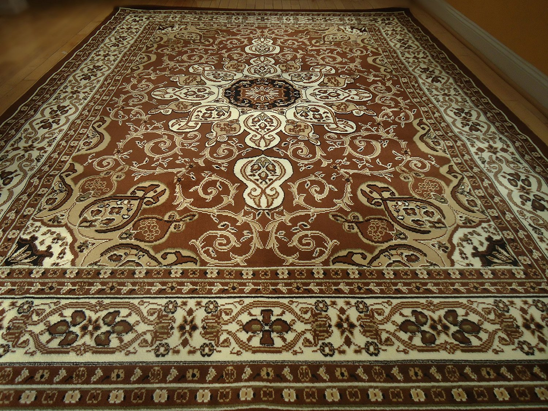 Buy Persian Style Rug 8x11 Beige Brown Rug 8x10 Area Rug