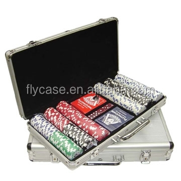 nieuwe 500 ct Monte Carlo*poker room* clay poker chip set met aluminium behuizing
