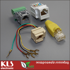 Good quality Shield wire modular jack connector rj11 UL CE ROHS 002 KLS Brand