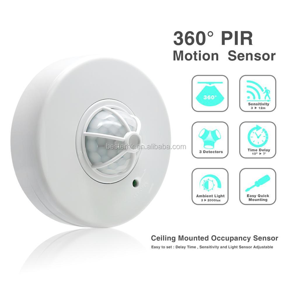 360 Degree Pir Infrared Motion Sensor Switch Ceiling Mount
