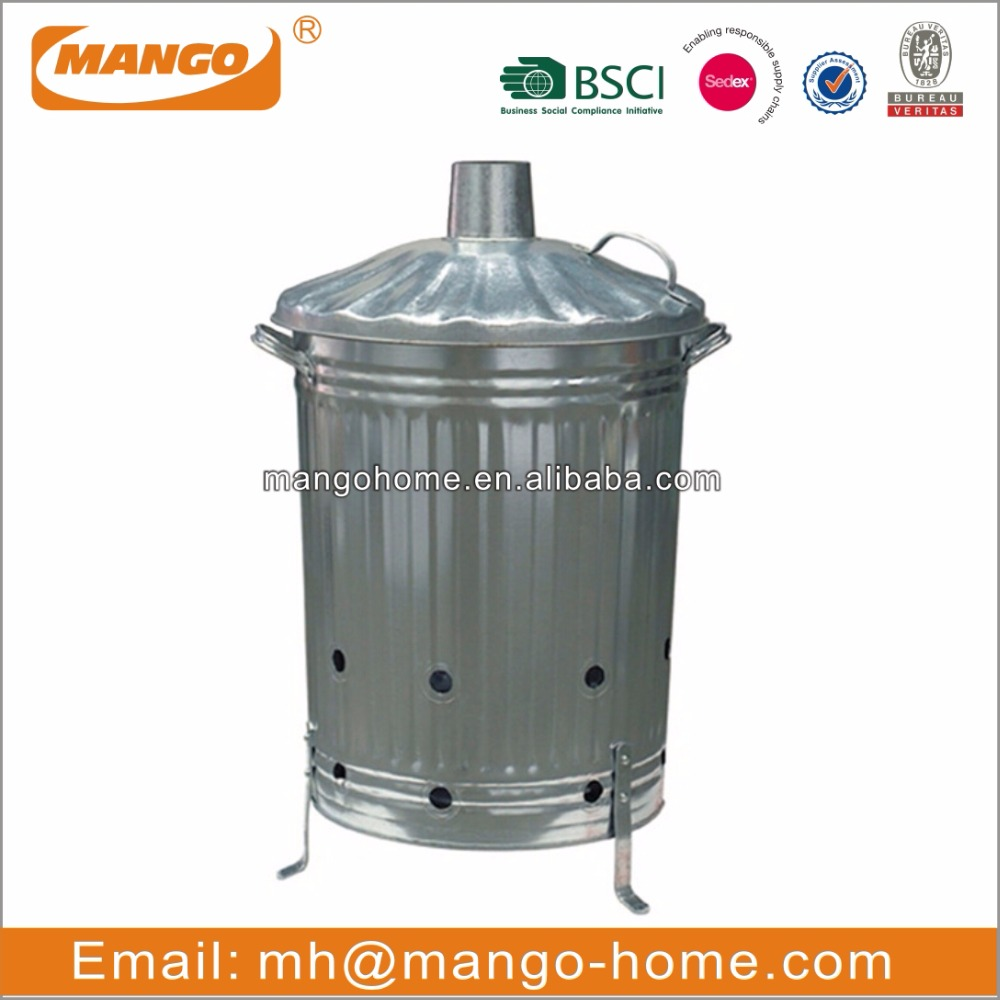 Large Galvanised Garden Waste Incinerator
